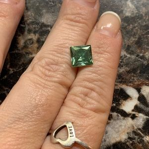 Jewelry - Fiery 2.51 Ct Loose Moissanite Green Princess Cut